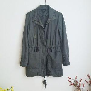Khaki Olive Green Utility Jacket